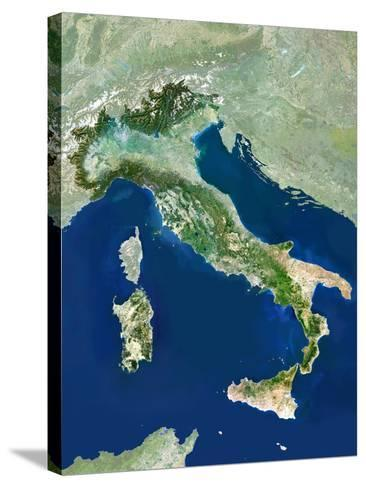 Italy, Satellite Image-PLANETOBSERVER-Stretched Canvas Print