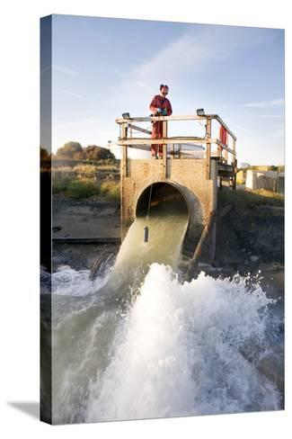 Waste Water Sampling-Paul Rapson-Stretched Canvas Print