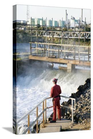 Waste Water Monitoring-Paul Rapson-Stretched Canvas Print