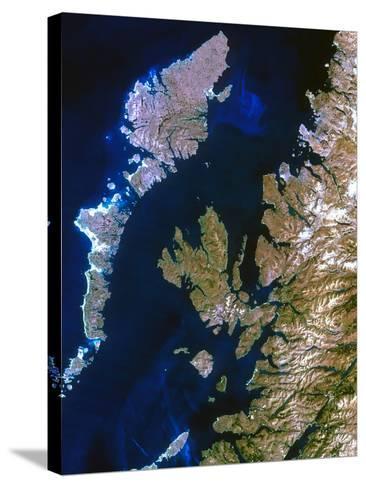 True-colour Satellite Image of Northwest Scotland-PLANETOBSERVER-Stretched Canvas Print