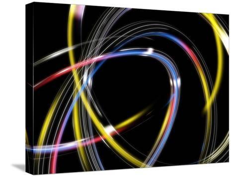 Circles, Abstract Computer Artwork-PASIEKA-Stretched Canvas Print