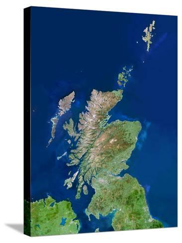 Scotland, UK, Satellite Image-PLANETOBSERVER-Stretched Canvas Print