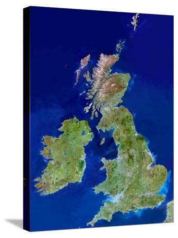 British Isles, Satellite Image-PLANETOBSERVER-Stretched Canvas Print