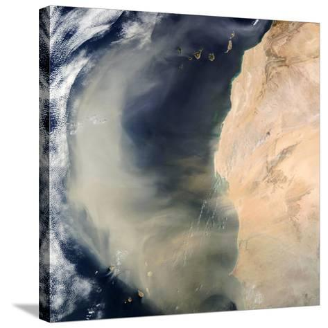 Dust Storm Over the Cape Verde Islands-PLANETOBSERVER-Stretched Canvas Print