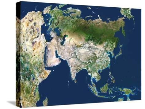 Asia, Satellite Image-PLANETOBSERVER-Stretched Canvas Print