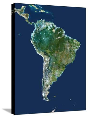 South America, Satellite Image-PLANETOBSERVER-Stretched Canvas Print