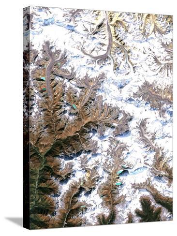 Mount Everest, Satellite Image-PLANETOBSERVER-Stretched Canvas Print