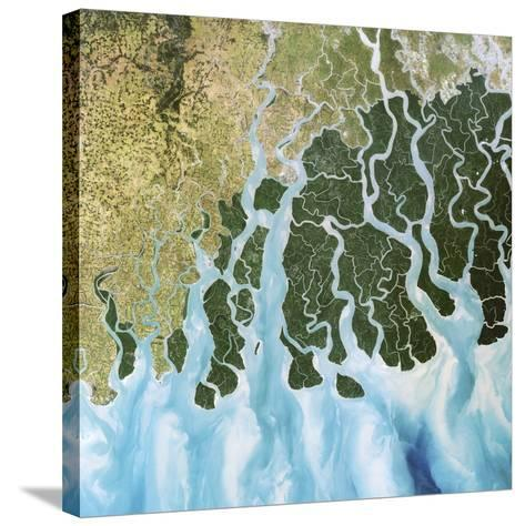 Ganges River Delta, India-PLANETOBSERVER-Stretched Canvas Print