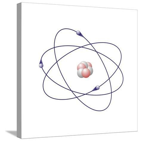 Lithium, Atomic Model-Friedrich Saurer-Stretched Canvas Print