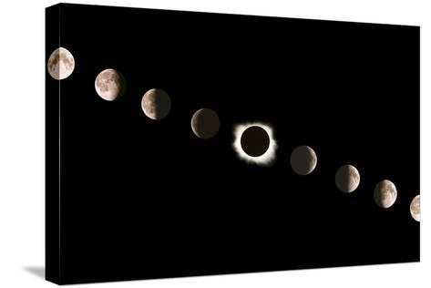 Composite Image of the Phases of the Moon-John Sanford-Stretched Canvas Print