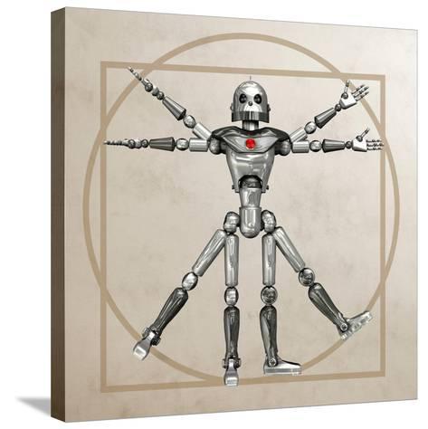 Robot, Artwork-Friedrich Saurer-Stretched Canvas Print