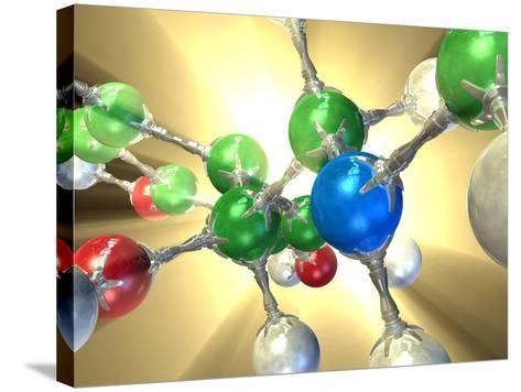 Adrenaline Hormone Molecule-David Mack-Stretched Canvas Print