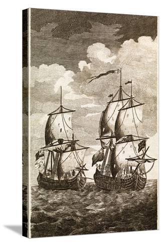 Anson's Spanish Galleon Capture, 1743-Middle Temple Library-Stretched Canvas Print