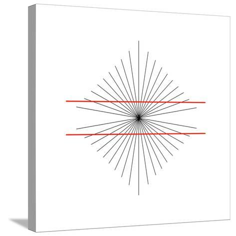 Hering Illusion-Science Photo Library-Stretched Canvas Print