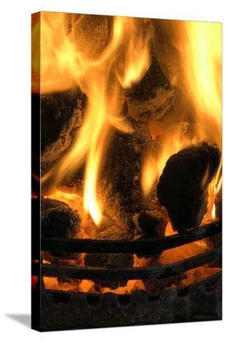 Coal Fire-Duncan Shaw-Stretched Canvas Print