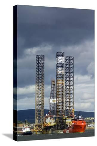 Jackup Oil Drilling Rig, North Sea-Duncan Shaw-Stretched Canvas Print