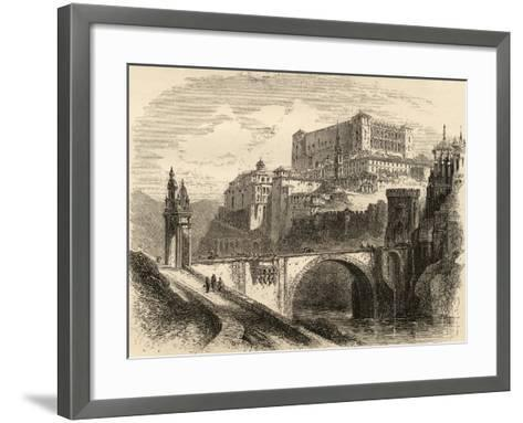 Toledo, Spain, Illustration from 'spanish Pictures' by the Rev. Samuel Manning--Framed Art Print