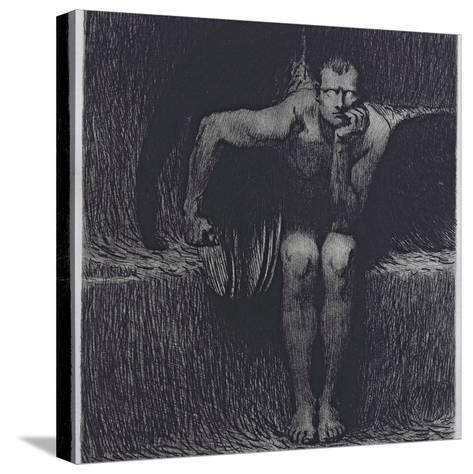 Lucifer-Franz von Stuck-Stretched Canvas Print