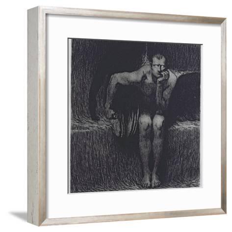 Lucifer-Franz von Stuck-Framed Art Print