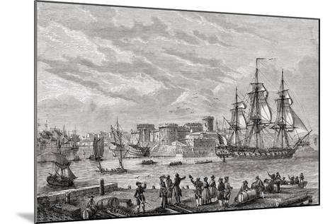 Brest in 1791, Engraved by Le Breton, from 'Histoire De La Revolution Francaise' by Louis Blanc…--Mounted Giclee Print
