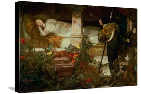 Sleeping Beauty-Edward Frederick Brewtnall-Stretched Canvas Print
