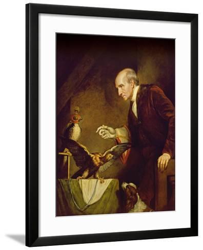 Self Portrait as a Falconer, 1823-James Northcote-Framed Art Print