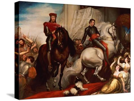 The Entry of Richard II and Bolingbroke into London-James Northcote-Stretched Canvas Print