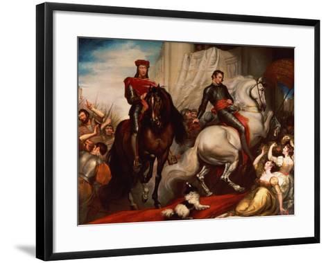 The Entry of Richard II and Bolingbroke into London-James Northcote-Framed Art Print