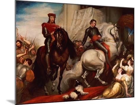 The Entry of Richard II and Bolingbroke into London-James Northcote-Mounted Giclee Print