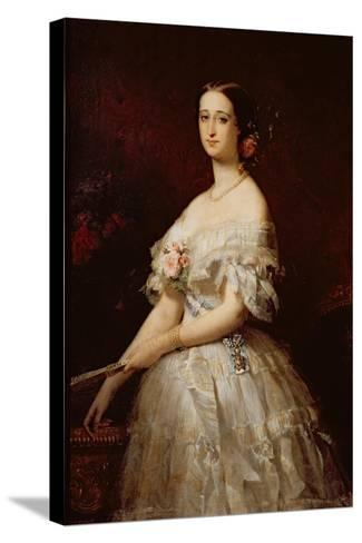 Empress Eugenie-Claude-Marie Dubufe-Stretched Canvas Print