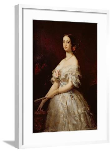 Empress Eugenie-Claude-Marie Dubufe-Framed Art Print
