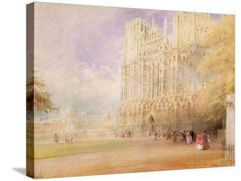Wells Cathedral-Albert Goodwin-Stretched Canvas Print