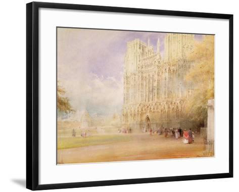 Wells Cathedral-Albert Goodwin-Framed Art Print