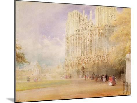 Wells Cathedral-Albert Goodwin-Mounted Giclee Print