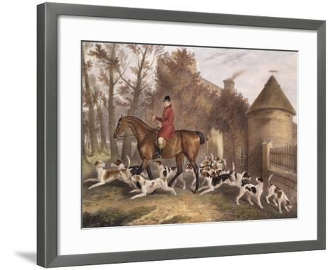 W. Sebright, Huntsman to the Milton Hounds, Engraved by J.W. Giles, 1839-Richard Barrett Davis-Framed Art Print