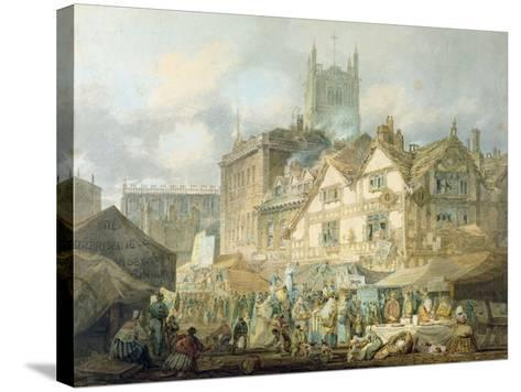 High Green, Queen Square, Wolverhampton, 1795-J^ M^ W^ Turner-Stretched Canvas Print