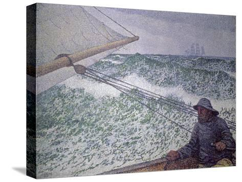 The Man at the Tiller, 1892-Th?o van Rysselberghe-Stretched Canvas Print