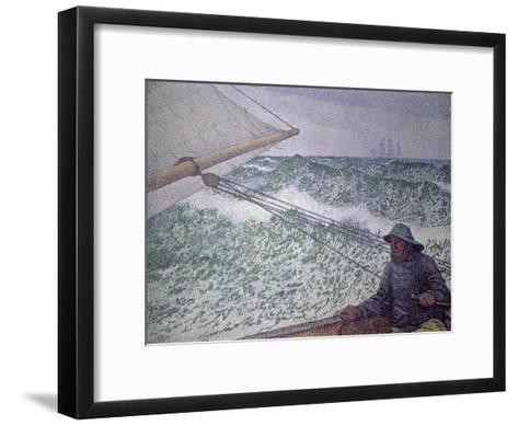 The Man at the Tiller, 1892-Th?o van Rysselberghe-Framed Art Print