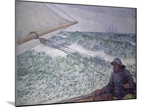 The Man at the Tiller, 1892-Th?o van Rysselberghe-Mounted Giclee Print