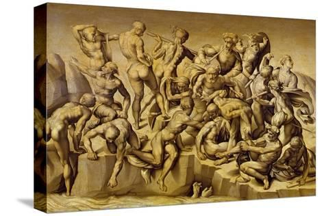 The Battle of Cascina, or the Bathers, after Michelangelo (1475-1564), 1542-Aristotile da Sangallo-Stretched Canvas Print