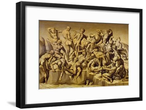 The Battle of Cascina, or the Bathers, after Michelangelo (1475-1564), 1542-Aristotile da Sangallo-Framed Art Print
