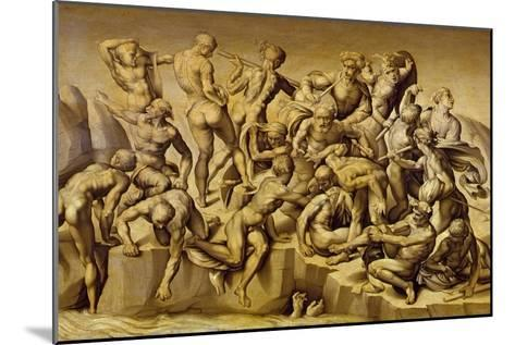 The Battle of Cascina, or the Bathers, after Michelangelo (1475-1564), 1542-Aristotile da Sangallo-Mounted Giclee Print