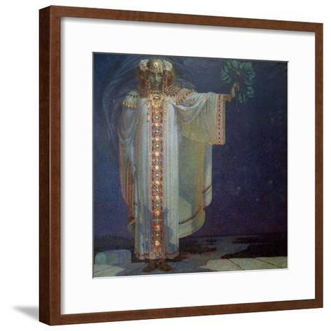 The Prophetess Libuse, 1893-Vitezlav Karel Masek-Framed Art Print
