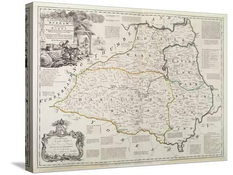Map of Durham, 1777-Thomas Kitchin-Stretched Canvas Print