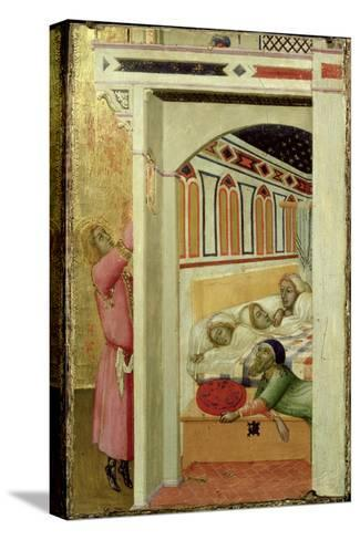 The Charity of St Nicholas of Bari-Ambrogio Lorenzetti-Stretched Canvas Print