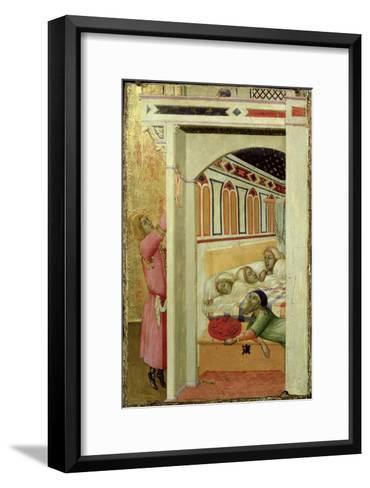 The Charity of St Nicholas of Bari-Ambrogio Lorenzetti-Framed Art Print