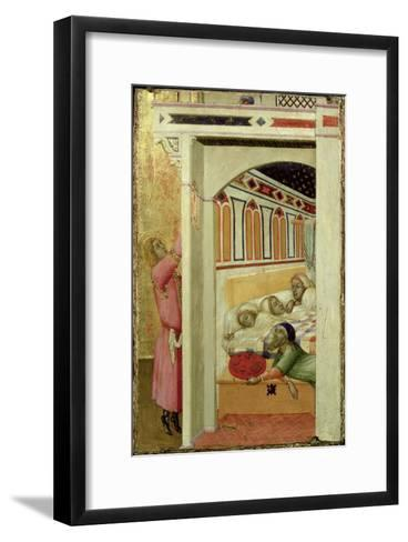 The Charity of St Nicholas of Bari-Ambrogio Lorenzetti-Framed Art Print