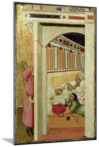 The Charity of St Nicholas of Bari-Ambrogio Lorenzetti-Mounted Giclee Print