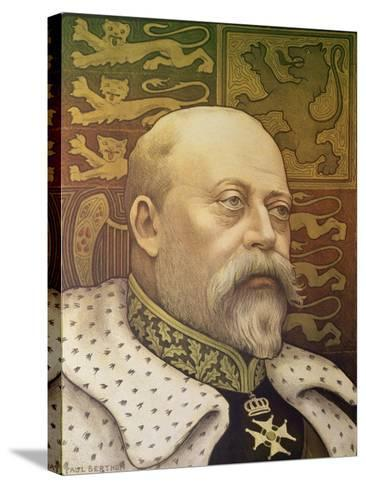 King Edward Vii-Paul Berthon-Stretched Canvas Print