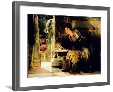 Welcome Footsteps, 1883-Sir Lawrence Alma-Tadema-Framed Art Print